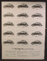 Magazine Ad For Volkswagen Beetle Car, Theory of Evolution, 1949 to 1963 Beetles, 1962