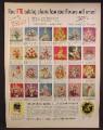 Magazine Ad For FTD Flower Arrangements, 24 Arrangements, 1962