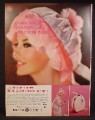 Magazine Ad For GE General Electric Portable Hair Dryer, Pink Case Bonnet with Hose, 1962