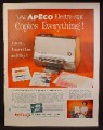 Magazine Ad For Apeco Electro-Stat Office Copier, Copies Everything, 1962