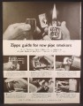 Magazine Ad For Zippo Lighter, USN, United States Navy, Guide for New Pipe Smokers, 1964
