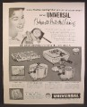 Magazine Ad For Universal Cookamatic Controlled Cooking Appliances, Griddle, Saucepan, Frying, 1957