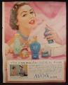 Magazine Ad For Avon Cosmetics, Here's My Heart Fragrance, Avon Try-On, 1957