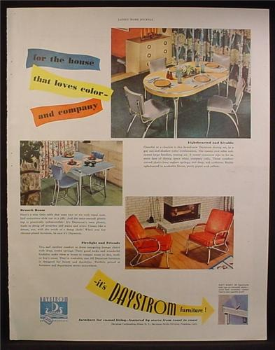 Magazine ad for daystrom furniture kitchen table chairs for P s furniture flyer