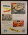 Magazine Ad For Daystrom Furniture, Kitchen Table & Chairs, 1948