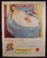 Magazine Ad For American-Standard Plumbing, Blue Corner Angle Bathtub, American Standard, 1944