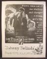 Magazine Ad For Johnny Belinda Movie, Jane Wyman, Lew Ayres, Poster, 1948