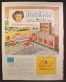 Magazine Ad For ChromCraft Dinettes, Kitchen Furniture, Kathryn Grayson, Celebrity, 1948