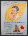 Magazine Ad For Lucky Strike Cigarettes, Tobacco Auctioneers, Woman in Polka Dots, 1948