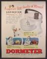 Magazine Ad For Dormeyer Mixer, 3 Models, Power-Chef, Ceramic Bowl, 1944