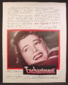 Magazine Ad For Enchantment Movie, David Niven, Teresa Wright, Poster, 1948
