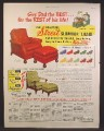 Magazine Ad For Streit Slumber Chair, Furniture, Give Dad The Best, 10 Colors, 1950