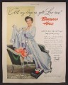 Magazine Ad For Lux Laundry Soap Flakes, Barbara Hale, All My Lingerie Gets Lux, Celebrity, 1950