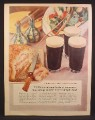 Magazine Ad For Guiness Beer, Brings Out The Best In Simple Food, England, 1956