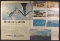 Magazine Ad For GE General Electric, Sac Flies A Mission, Boeing Bomber, 1954, Double Page Ad