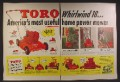 Magazine Ad For Toro Whirlwind 18 Gas Lawnmower, Other Accessories, 1954, Double Page Ad