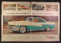 Magazine Ad For Mercury Montclair 2 Door Hardtop, Hearth Green & White Side & Font View, 1956