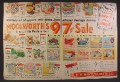 Magazine Ad For Woolworth's Store 97 Cent Sale, Woolworths, 1956, Double Page Ad