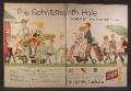 Magazine Ad For Schlitz Beer, Golfers in Bavarian Clothes, Schlitzteenth Hole, 1957, Double Page Ad