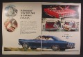Magazine Ad For Ford Fairlane 500 Car, Red Convertible, Station Wagon, 1966, Double Page Ad