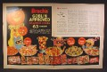 Magazine Ad For Brach's Goblin Approved Halloween Candy, Full & Half Page, 1964, Double Page Ad