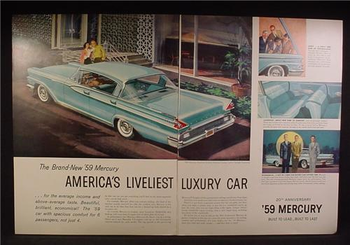 Magazine Ad For 1959 Mercury Montclair 4 Door Hardtop Cruiser Car, Rear & Side View, 1959