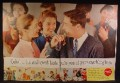 Magazine Ad For Coke Coca-Cola, Teens Mingling, Puts You At Your Sparkling Best, 1956