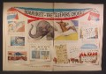 Magazine Ad For Beautyrest Mattress, Election Theme, Elephant & Donkey in Bed, Slogans, 1956