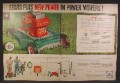 Magazine Ad For Sears Craftsman Lawn Mower, Gardening Supplies, 1957, Double Page Ad