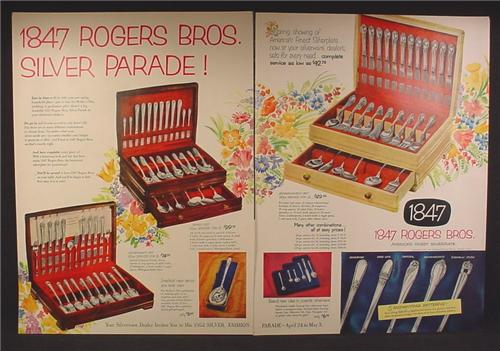 Magazine Ad For 1847 Rogers Bros Silver Parade, Silverware, Silverplate, 5 Patterns, 1952