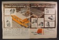 Magazine Ad For Allied Moving, Semi Trucks, Allied Man Packing Items, 1959, Double Page Ad