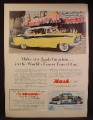 Magazine Ad For Nash Ambassador Country Club Car, Snow White Ride in Disneyland, 1956