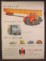 Magazine Ad For International Harvester Trucks, Tandem Axle, Hauling A Steel Beam, 1959