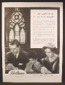 Magazine Ad For Beltone, Family Praying in Church, Thank You God For Letting Me Hear Again, 1959