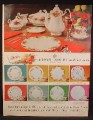 Magazine Ad For Royal Albert China, 8 Different Patterns Pictured, 1964