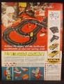 Magazine Ad For Eldon Slot Car Racing Set & Billy Blastoff Action Figure & Accessories, 1968