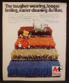 Magazine Ad For Monsanto Acrilan Carpet, Dennis The Menace & Ruff The Dog Cartoon, 1973