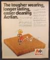 Magazine Ad For Monsanto Acrilan Carpet, Dennis The Menace On Pogo Stick Cartoon, 1973