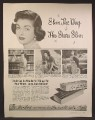Magazine Ad For Ayds Reducing Plan Vitamin Candy, The Way The Stars Slim, 1952