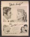 Magazine Ad For Lux Toilet Soap, Elizabeth Taylor, I'm A Lux Girl, Celebrity Endorsement, 1949