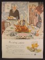 Magazine Ad For Beer Belongs, Number 10, Thanksgiving Dinner, Douglass Crockwell, 1947