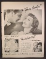 Magazine Ad For Lux Toilet Soap, Claudette Colbert, I'm A Lux Girl, Celebrity Endorsement, 1949