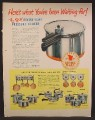 Magazine Ad For Revere Ware Pressure Cooker, Pots & Pans, Kitchen Jewels, 1949, 10 1/2 by 13 1/2