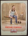 Magazine Ad For Altoids, Guy With Mullet Exercising His Mouth, Prepare Yourself, Funny, 2004