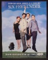 Magazine Ad For Six Feet Under TV Show, Dearly Beloved Series, Television, HBO, 2004, 9 1/2 by 12