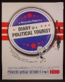 Magazine Ad For Diary Of A Political Tourist TV Show, Television, Alexandria Pelosi, 2004