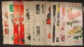 Lot of 12 Magazine Ads for Candy, Chewing Gum & Chocolate Bars, 1930's 1940's and 1950's, 1/2 Page