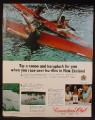 Magazine Ad For Canadian Club Whiskey, Canoeing in New Zealand, 1967, Inside Back Cover Page