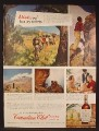 Magazine Ad For Canadian Club Whiskey, Climbing Mt Kilimanjaro in Africa, 1949, Back Cover Page