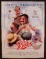 Magazine Ad For Movie The Babe, John Goodman, Kelly McGillis, 1992, 8 1/8 by 10 7/8